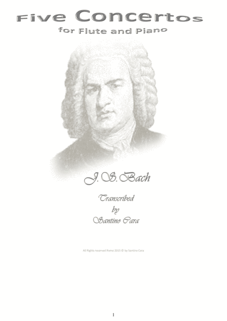 Bach - Five Concertos for Flute and Piano