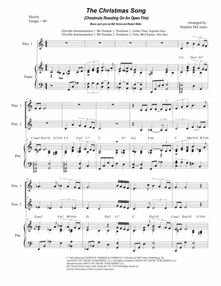 The Christmas Song (Chestnuts Roasting On An Open Fire) (for Flexible Treble Instrumentation)