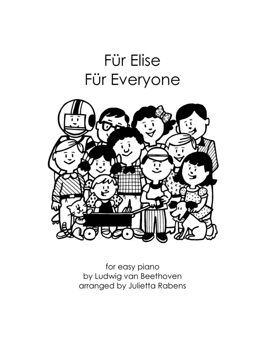 Für Elise Für Everyone for easy piano