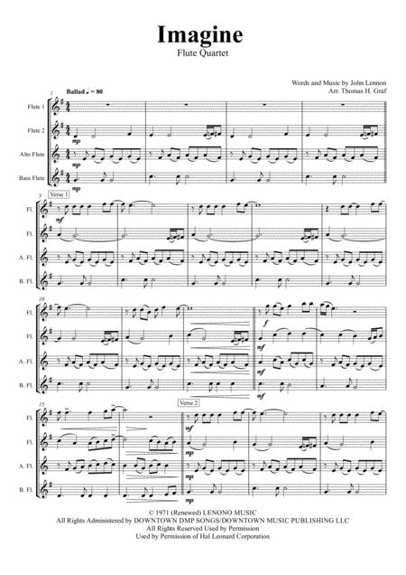 Imagine - John Lennon's Classic  - Flute Quartet