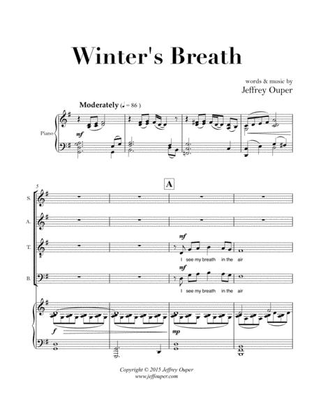 Winter's Breath (SATB Choir & Piano)