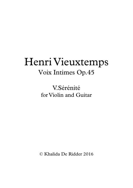 Voix Intimes, Sérénité
