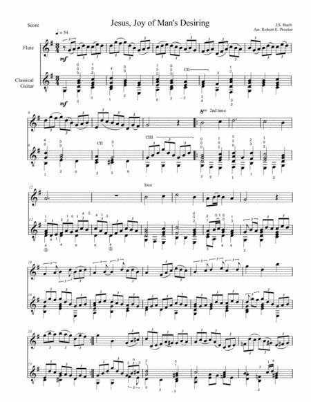 Jesu, Joy of Man's Desiring for Flute and Guitar