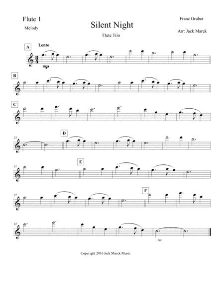 Silent Night Flute solo,duet,or trio