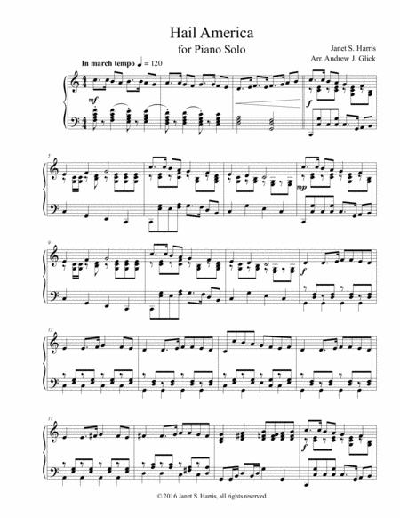 Hail America (piano solo)