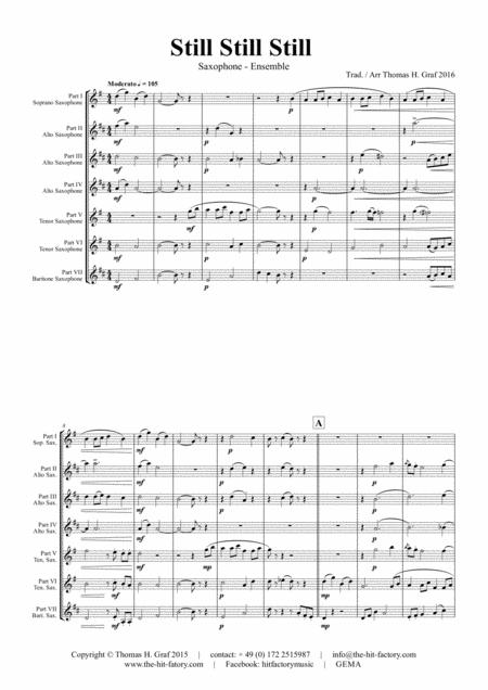 Still Still Still - Christmas song  - 7 Parts - Saxophone Ensemble