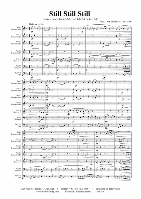Still Still Still - Christmas song  - 7 Parts - Brass Ensemble