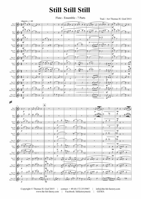 Still Still Still - Christmas song  - 7 Parts - Flute Ensemble