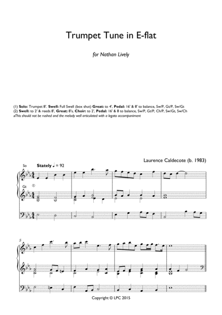 Trumpet Tune in E flat