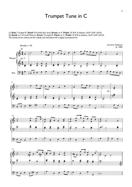 Trumpet Tune in C