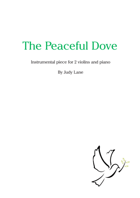 The Peaceful Dove for piano and 2 violins or flutes