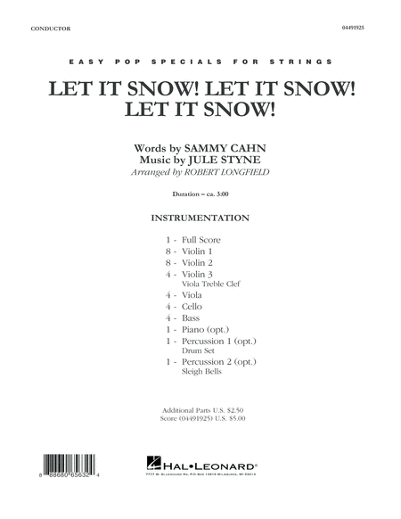 Let It Snow! Let It Snow! Let It Snow! - Conductor Score (Full Score)