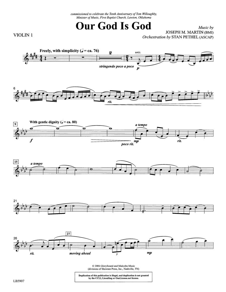 Our God Is God - Violin 1