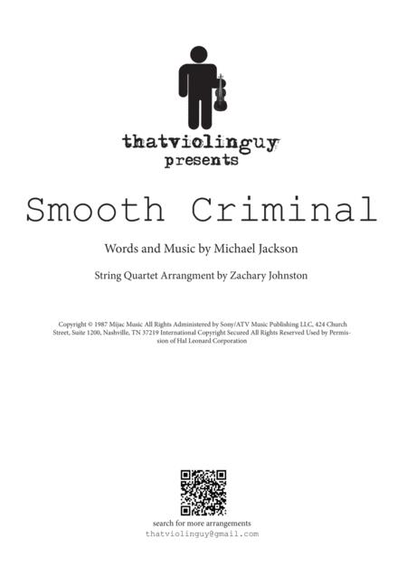 Smooth Criminal for String Quartet