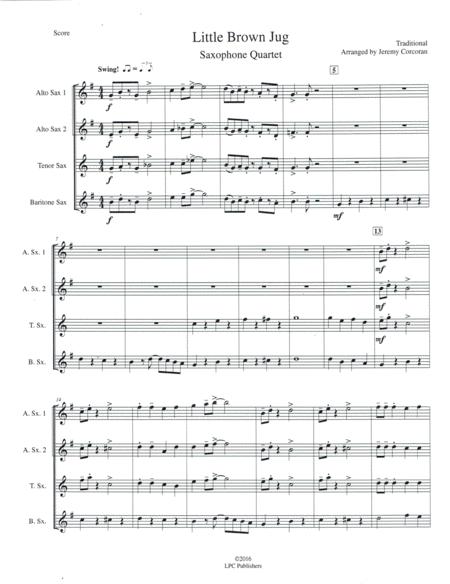 Little Brown Jug for Saxophone Quartet