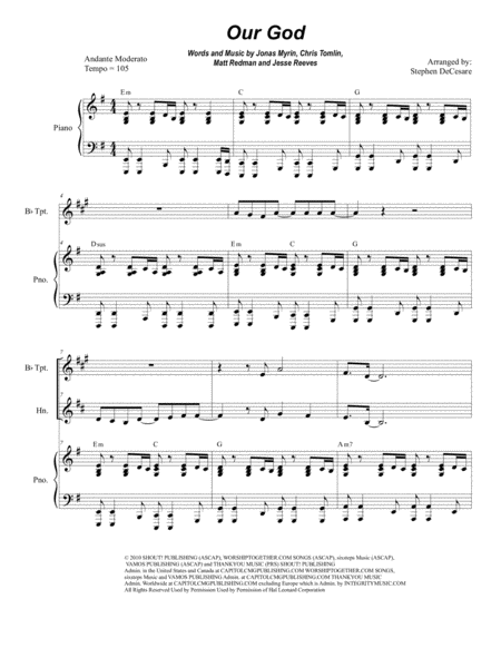 Our God (Duet for Bb-Trumpet and French Horn)