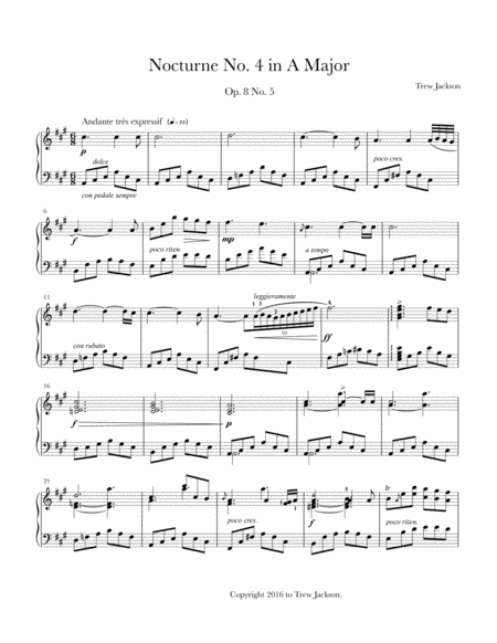 Nocturne No. 4 in A Major