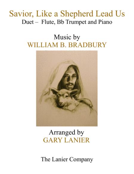 SAVIOR, LIKE A SHEPHERD LEAD US (Trio – Flute, Bb Trumpet & Piano with Parts)