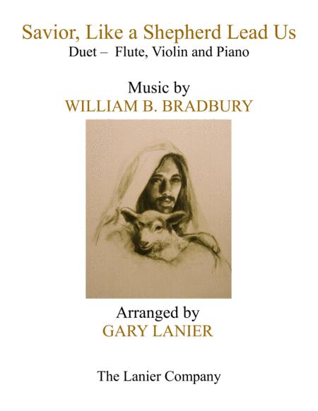 SAVIOR, LIKE A SHEPHERD LEAD US (Trio – Flute, Violin & Piano with Parts)