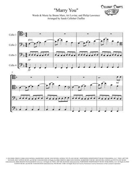 Marry You - Cello Quartet - Bruno Mars arr. Cellobat