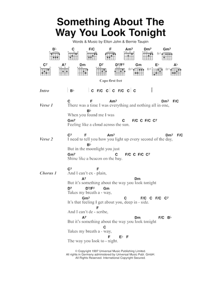 Something About The Way You Look Tonight