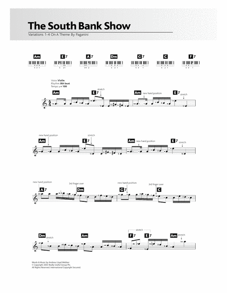 Variations 1-4 (theme from The South Bank Show)