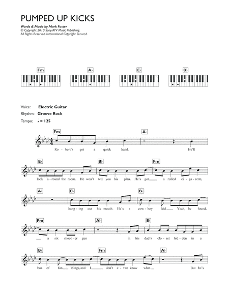 Download Pumped Up Kicks Sheet Music By Foster The People Sheet