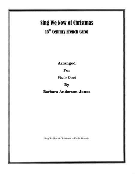 Sing We Now Of Christmas (Flute Duet)