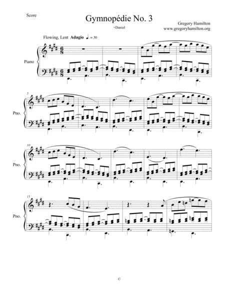 Gymnopédie No. 3 by Gregory Hamilton