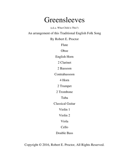 Greensleeves for Guitar and Orchestra