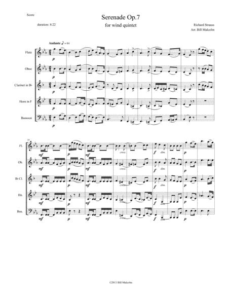 Serenade Op. 7