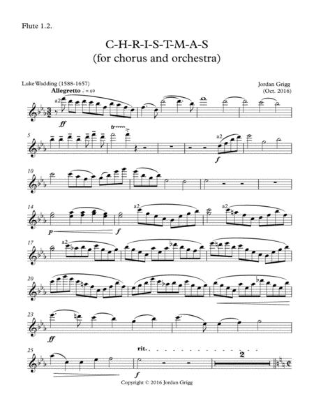 C-H-R-I-S-T-M-A-S (for chorus and orchestra)-Parts 1