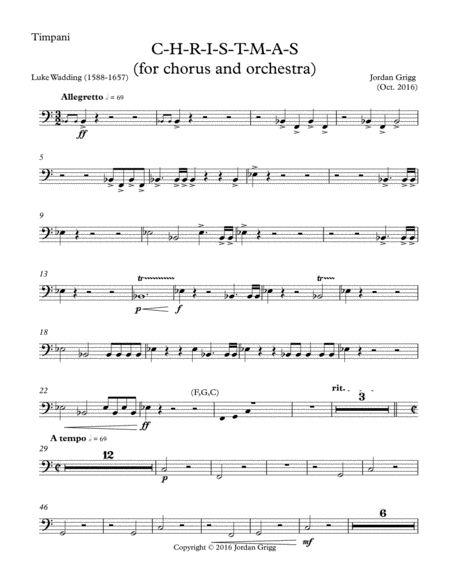 C-H-R-I-S-T-M-A-S (for chorus and orchestra)-Parts 2