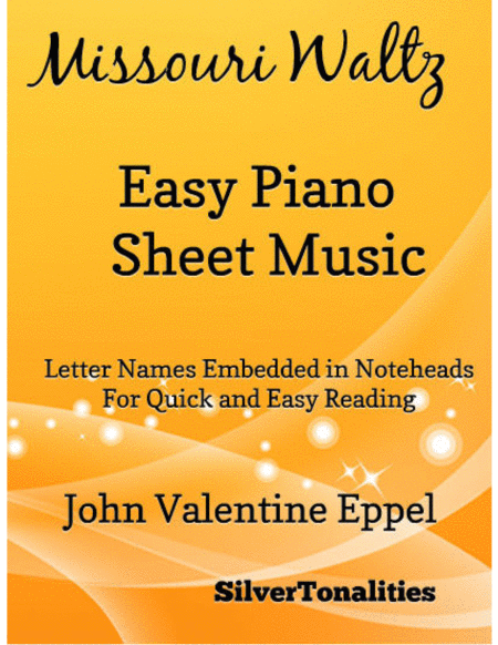 Missouri Waltz Easy Piano Sheet Music