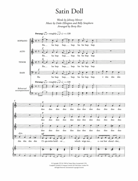 Satin Doll (arr. Berty Rice)