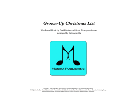 Grown-Up Christmas List - Jazz Ensemble with Vocalist