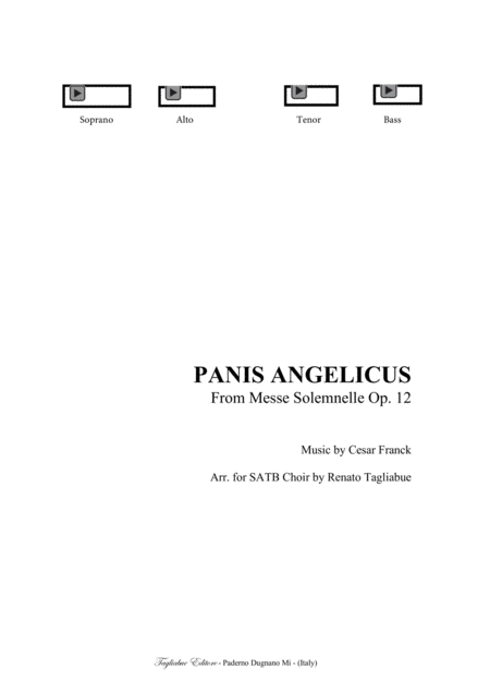 FRANCK - PANIS ANGELICUS - For SATB Choir and Organ