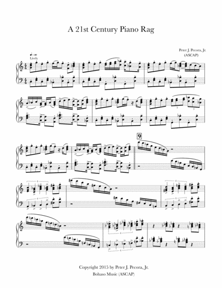 A 21st Century Piano Rag