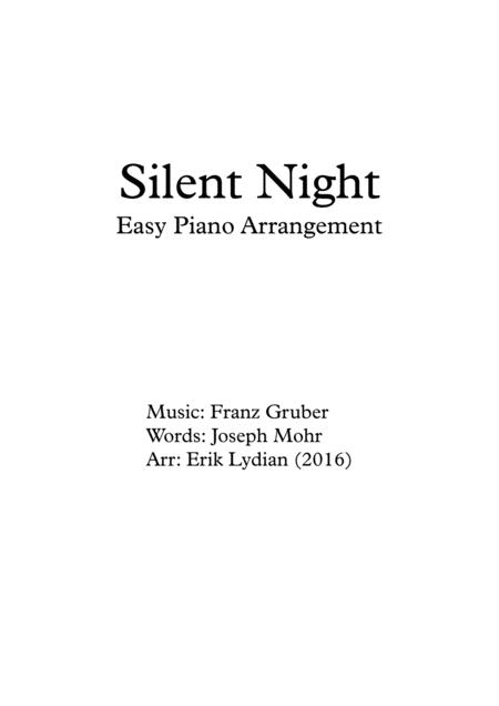 Silent Night - Easy Piano Arrangement