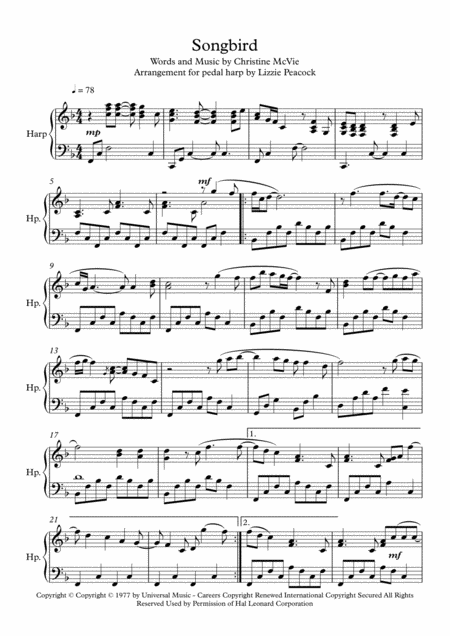 Songbird - Harp Solo