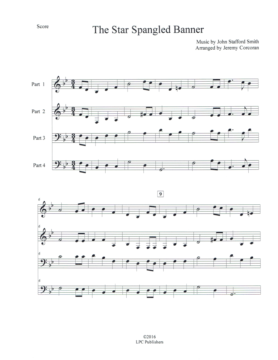 The Star Spangled Banner for Mixed Instrumentation