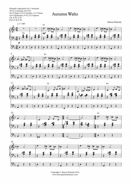 Autumn Waltz for Organ by Simon Peberdy