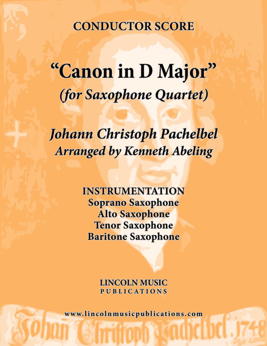Pachelbel - Canon in D Major (for Saxophone Quartet SATB)