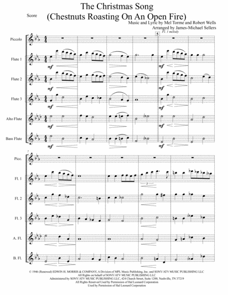 The Christmas Song (Chestnuts Roasting On An Open Fire) for Flute Choir