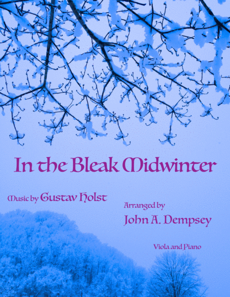 In the Bleak Midwinter (Viola and Piano Duet)