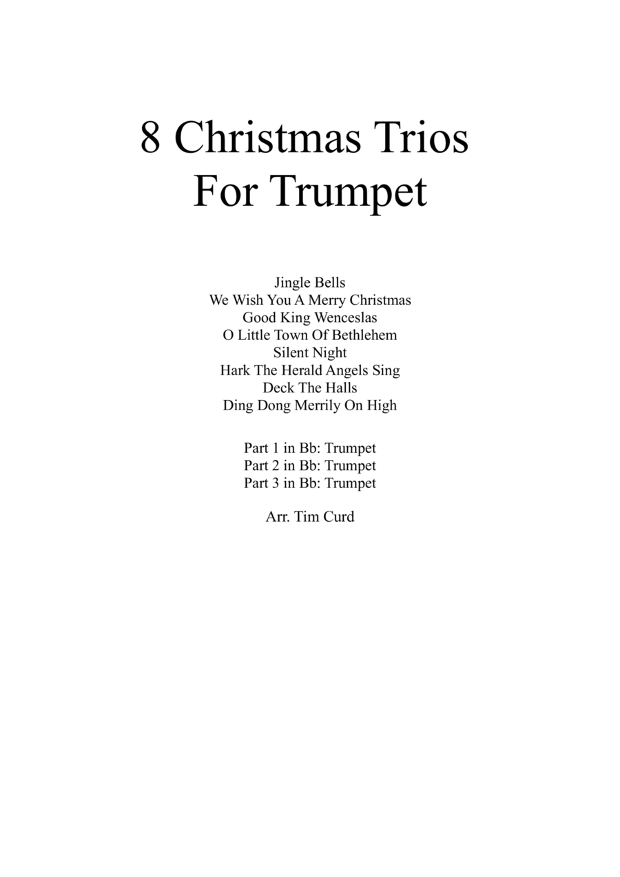8 Christmas Trios For Trumpet
