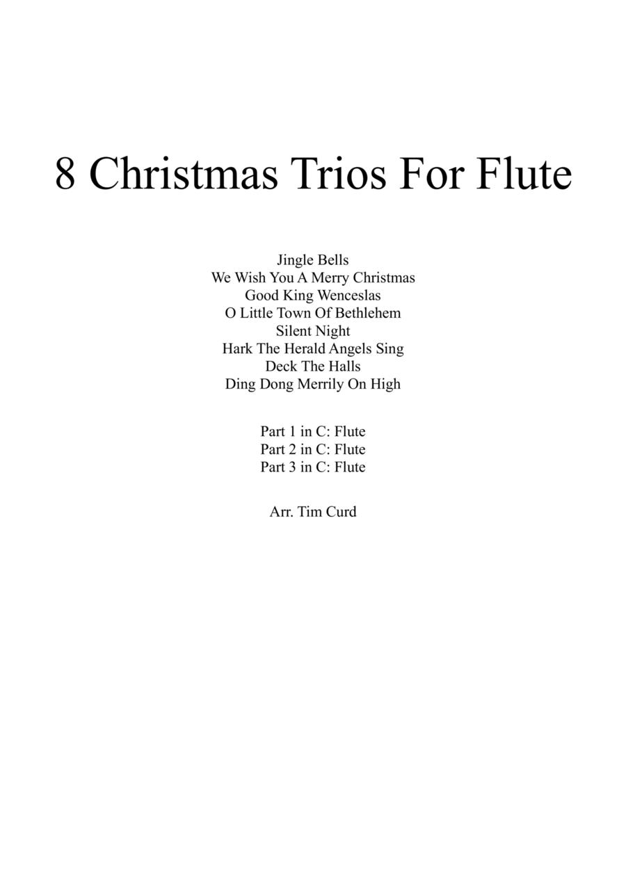 8 Christmas Trios For Flute