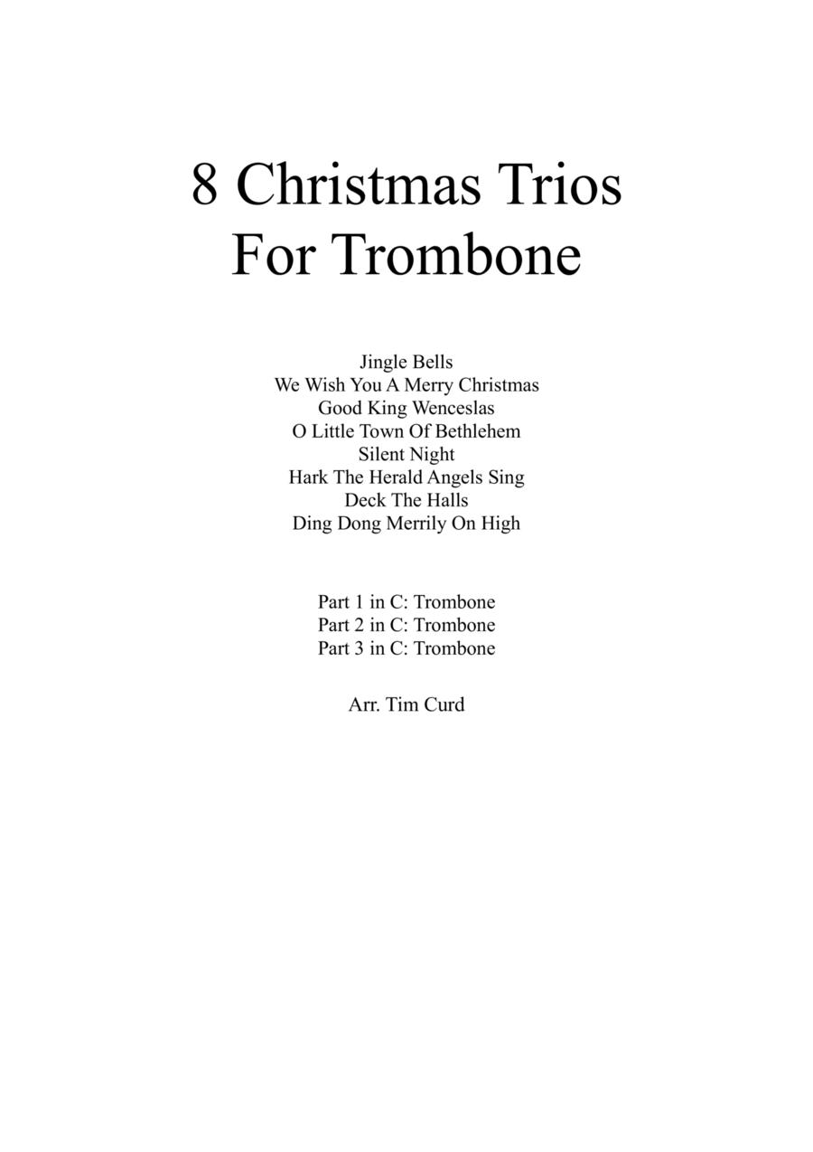 8 Christmas Trios For Trombone