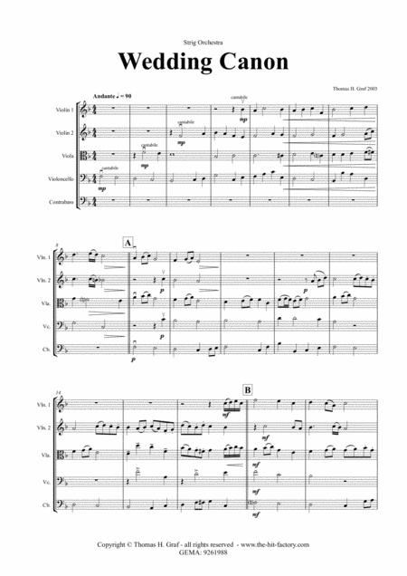 Wedding Canon - Festive Concert Piece - String Orchestra