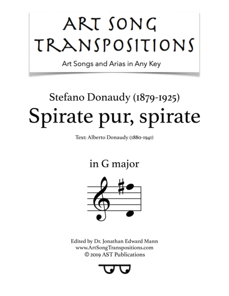 Spirate pur, spirate (G major)